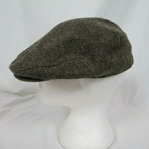 Stetson Newsboy Hat Vintage Tweed Brown Wool